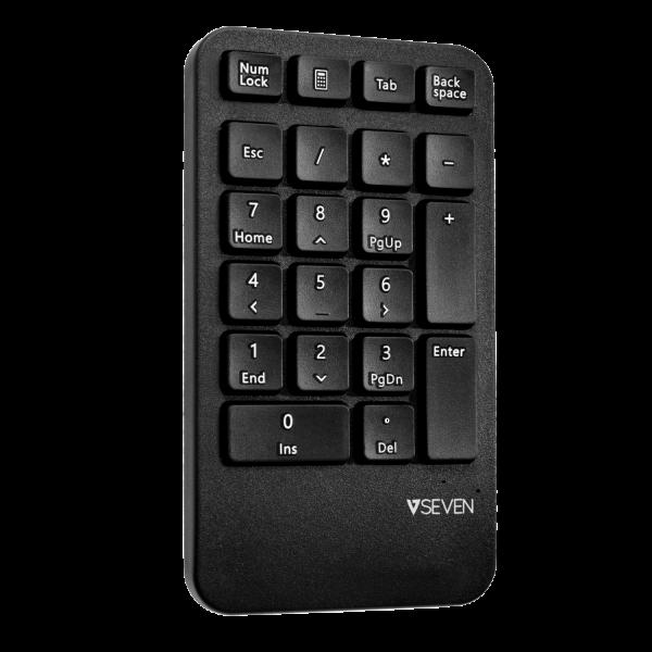 Ergonomic Wireless Keyboard, Mouse, and Keypad Combo