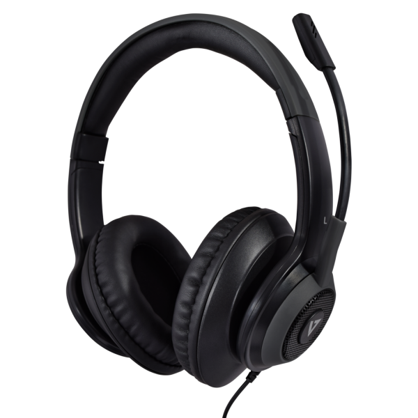 V7 Premium Over-ear Stereo Headset with Boom Mic