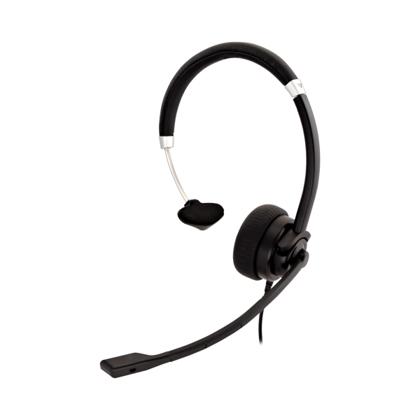 V7 Deluxe Mono Headset with Boom Mic